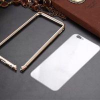 新款iPhone6双色海马扣金属边框透明亚克力背板苹果6手机壳 批发
