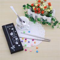快乐时光勺筷两件套 高级不锈钢餐具 彩盒套装