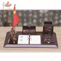 多功能办公桌高档红木装饰好兆头浮雕台历摆件 办公用品批发 1378