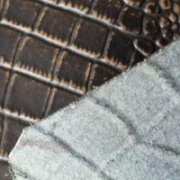 成都尊美皮革零售供应墙体软包硬包专用牛皮革黄牛水牛二层鳄鱼纹拼皮