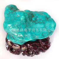 萃艺林 天然正品绿松石摆件 高端送领导客厅办公室摆件14100603