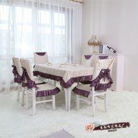 厂家直销批发高档欧式餐桌布椅垫套装 圣诞餐桌椅子茶几圆桌布