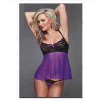 欧美情趣内衣 紫色性感透明睡裙外贸批发情趣内衣