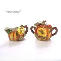 淘宝进货批发 向日葵南瓜茶壶 奶盅 套装 咖啡茶具D-274-272