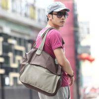 原创设计 韩版男式包 拼接单肩包 软皮斜挎包