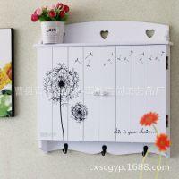 创意木质蒲公英图案电表箱 带挂钩遮挡箱 壁式装饰箱 家具批发