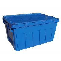 供应斜插式塑料物流箱斜插箱交叉盖塑料周转箱