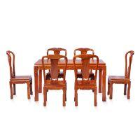 北京 红木家具厂家 批发定制中式家具 花梨木家具 金玉满堂餐桌椅7件套