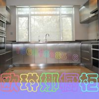 上海家用高低台面橱柜定制 不锈钢整体厨房柜定制 绿色无甲醛