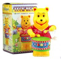上链发条玩具不用电池 打鼓小熊 敲鼓维尼 淘宝热销 厂家直销