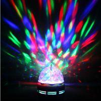 迷你水晶LED七彩旋转灯泡KTV舞台灯星空浪漫旋转灯 变色节能灯泡