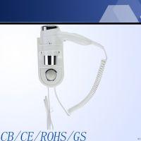 供应慧普壁挂式电吹风机 促销礼品 浴室宾馆专用1600W静音吹风机 酒店专用电吹风