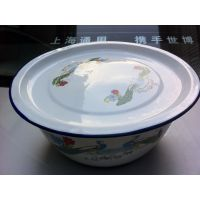 30cm膨胀碗二级各色搪瓷盖盆/日用搪瓷制品批发洗手碗 厂家直销