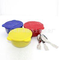 【优质货源】不锈钢彩色儿童碗 带盖配匙三件套 彩色碗 餐具