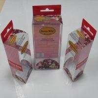 厂家供应彩色PVC盒  透明折盒PVC盒子