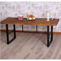 实木家具 铁艺餐桌 复古餐桌 餐厅餐桌 餐厅餐桌批发