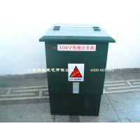 现货一进一出欧式电缆分支箱 DFW-12/630电缆分线箱 铁壳不带开关