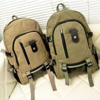 日韩青年旅行包大容量双肩男女运动手机袋拉链电脑插袋纯色手提