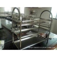 厨房用品多功能双层碗碟架/碗架9字型碗架餐具架/厨房收纳