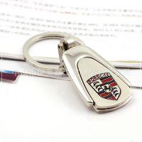 可镭射logo梯形车标钥匙链 车标大全 汽车饰品  YX701保时捷