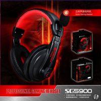 供应烁果SG5900 电脑耳机 耳麦头戴式 游戏耳机带麦克风话筒 头戴
