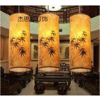 中式古典羊皮吊灯现代简约中国风餐厅灯简约现代过道走廊灯具灯饰