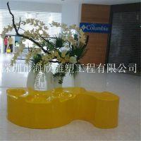 厂家直销商场会所休闲长椅 玻璃钢休闲椅 创意个性休闲椅定制