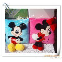 批发Disney 迪士尼 米奇米妮情侣有脚卡通造型靠垫抱枕 汽车靠垫