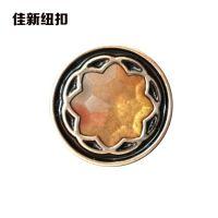 强力推荐 花型镶钻扣子 印花水钻彩色塑料纽扣扣子