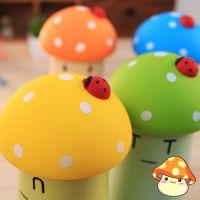 可爱学生儿童保温杯批发 卡通蘑菇点点不锈钢真空保温杯 新品