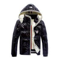供应微信代理冬装新款正品 韩版修身男士羽绒服外套 亮皮 羽绒服 男