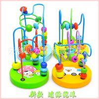 批发木制智力迷你小绕珠 玩具串珠 宝宝婴儿童益智玩具0-1-2-3岁