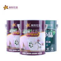 紫荆花漆 超净味抗甲醛全效墙面漆 内墙乳胶漆 白色 彩色涂料
