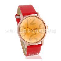 新款牡丹花手表潮流腕表 牡丹花皮带手表 女款学生表 时尚时装表