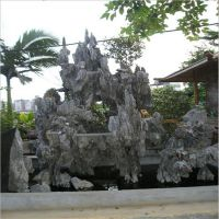 厂家直销玻璃钢创意假山施工工艺雕塑制作 天然树脂假山假水池仿真石头雕塑