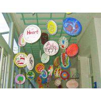 幼儿园彩绘手工制作材料益智玩具一次性蛋糕盘手绘画画纸盘装饰