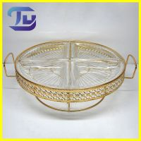 家用金属制品 圆形铁艺镀金水果盘HSY4052 创意时尚欧式水果盘