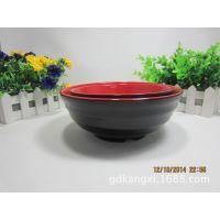耐高温红黑密胺餐具波纹面碗红黑A5汤碗仿瓷塑料碗酒店连锁专用