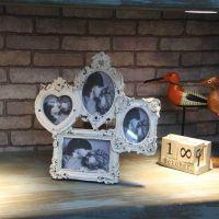 高档欧式树脂相框田园组合手绘相架结婚情侣豪华摆台照片框