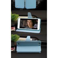 供应步步高X3蚕丝纹万能通用电压皮套厂家开窗手机壳保护套批发商
