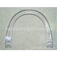 广东厂家供应时尚箱包配件手较PVC透明塑胶手挽