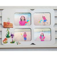 四连8寸田园风烤漆相框 影视后期制作相框厂家直销 韩版像框相架