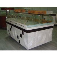 供应厂家可定做精品玻璃蛋糕展柜 面包中岛柜 糕点柜
