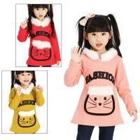 2013秋季新款 可爱猫咪不倒绒打底衫 韩版毛领加厚长袖T恤