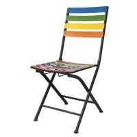 欧式铁艺椅子 彩虹条椅子 休闲家具摆椅 办公家用休闲椅