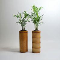 巨匠厂家定制日韩式环保竹子花瓶竹制花钵创意花插家居摆饰竹节式