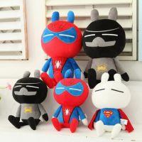 新款正品兔斯基美国英雄系列蝙蝠侠超人蜘蛛侠毛绒玩具公仔批发