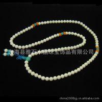 天然白砗磲绿松石佛珠手链时尚新款 水晶手链