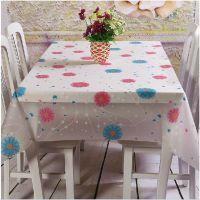 塑料印花桌布 塑料 方桌 花朵印花布 田园桌布 家具 防水桌布