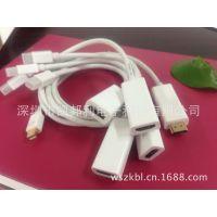 供应高清MINI视频转换线 苹果笔记本macbook DP转HDMI转接线